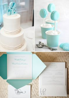 Tiffany Blue Wedding Theme  http://www.rosesandlace.co.uk/tiffany-blue-wedding-theme/