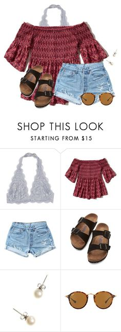 """""""Another round of dress shopping for NHS"""" by flroasburn on Polyvore featuring Hollister Co., Levi's, Birkenstock, J.Crew and Ray-Ban"""