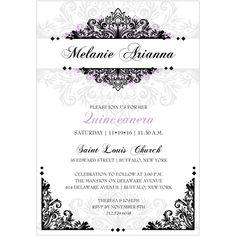 Filigree Delight Quinceañera Invitation   Storkie.com