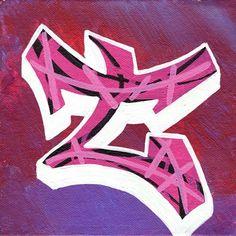 "Graffiti letter ""T"""