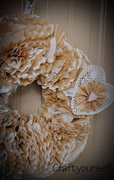 Coffee filter interchangeable wreath - craftyourself.com