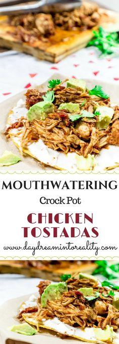 Mouthwatering CrockPot Chicken Tostadas