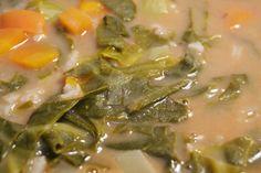 Receita de sopa de couve portuguesa com feijão manteiga by necasdevaladares