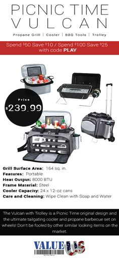 Ultimate BBQ Trolley with Grill & Cooler!