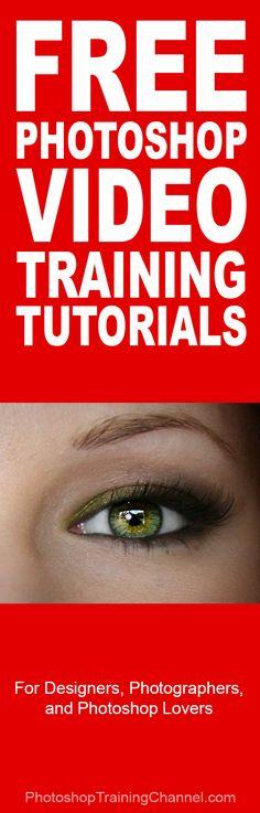 The best Free Photoshop video training tutorials! #Photoshop #photography #tips #tutorial #PSD #Adobe #lightroom http://photoshoptrainingchannel.com