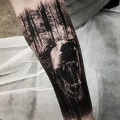 45 Amazing Forest Tattoo Design You Must Try It - Upoutfit.com Wolf Tattoos, Body Art Tattoos, Tattoo Drawings, Ship Tattoos, Octopus Tattoos, Maori Tattoos, Ankle Tattoos, Arrow Tattoos, Tattoo Ink