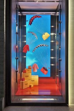 A preview of the new Parachute window theme, revealed for the first time at the Fendi boutique on Madison Avenue.