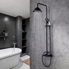 Chester Elegant Antique Black Rainfall Showerhead with Handheld Shower Faucet Set Solid Brass Wall Mounted Exposed Shower System - Shower Systems - Shower Faucets - Bath & Faucets Shower Fittings, Shower Plumbing, Shower Faucet Sets, Shower Fixtures, Bathroom Shower Faucets, Bathroom Vanities, Industrial Showers, Double Shower Heads, Brass Shower Head
