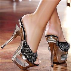 Mules women black heels 14 cm size 37, online buy Mules woman MODATOI