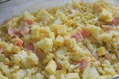Zapečený květák se šunkou a sýrem   NejRecept.cz Pasta Salad, Potato Salad, Potatoes, Ethnic Recipes, House, Ideas, Crab Pasta Salad, Home, Potato