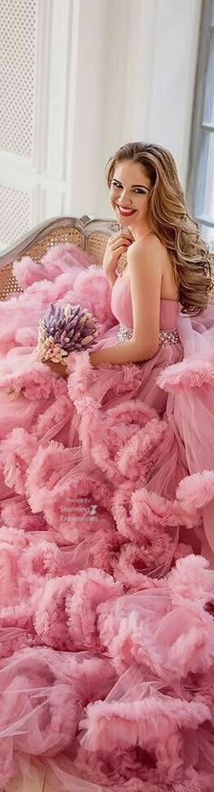 I lay no claim to most of the content included herein. Enjoy it! Pink Fashion, Runway Fashion, Fashion Show, Travel Fashion, Luxury Lifestyle Fashion, Frou Frou, Color Rosa, Pink Eyes, Pretty In Pink