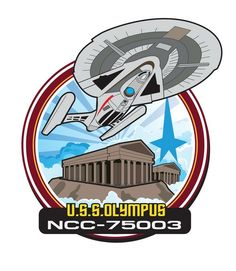 First draft of a patch design I was asked to create. There may be some revisions but I wanted to share this first pass. Olympus patch take 1 Star Trek Symbol, Star Trek Logo, Star Trek 1, Star Trek Ships, Star Trek Characters, Star Trek Starships, Star Trek Universe, Science Fiction, Pop Culture