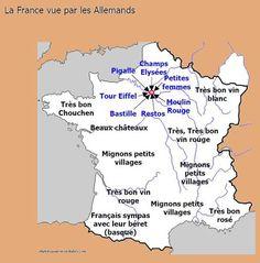 Carte de France vue par les étrangers