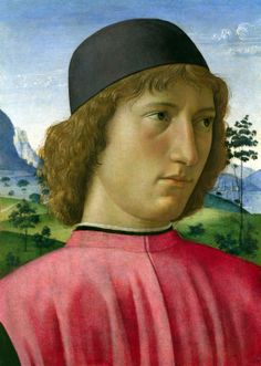 ❤ - DOMENICO GHIRLANDAIO (1449 - 1494) -  Portrait of a Young Man in Red - 1480. The National Gallery, London.
