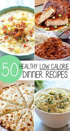 What are you having for dinner tonight? With this list of 50 amazing, healthy, delicious and low calorie weight loss meals, you have no excuse not to eat something delicious and healthy!