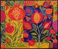 Carpet of Pomegranates, Chanan Mazal
