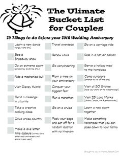 The Ultimate Bucket List for Couples