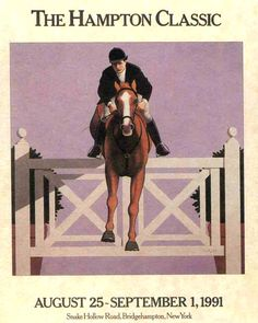 1991 Hampton Classic Horse Show Poster