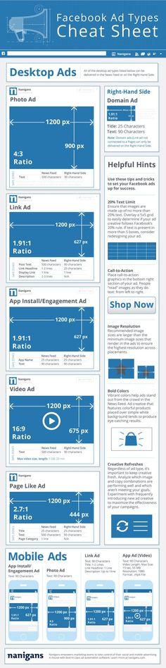¿Conoces las nuevas características y medidas de Facebook Ads? #infografia #infographic #socialmedia