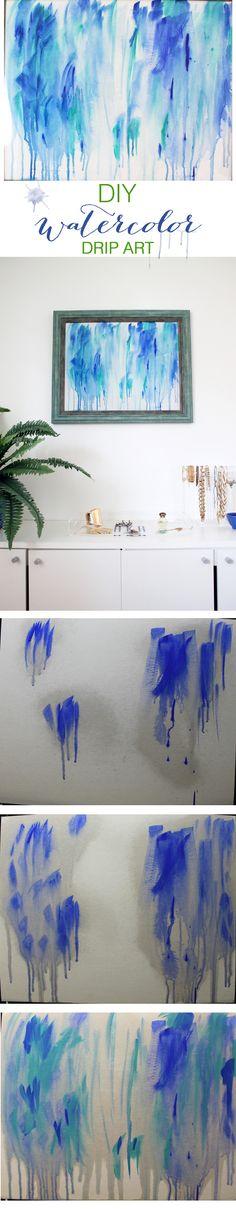 DIY Drip Art Tutorial | http://www.hammerandheelsblog.com/diy-drip-art/