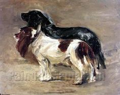 ♞ Artful Animals ♞ bird, dog, cat, fish, bunny and animal paintings - Max Liebermann | Two Dogs