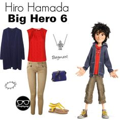 """Hiro Hamada Closplay - Big Hero 6"" by closplaying on Polyvore<------- Doing thisssssssssssssss"