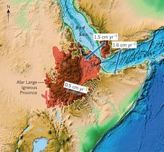 Large amounts of volcanic rock erupted across Ethiopia and Yemen about 30 million years ago. These form the Afar Large Igneous Province and ...