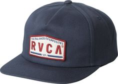 RVCA Wrecking Crew Snapback Hat - Olive / Navy