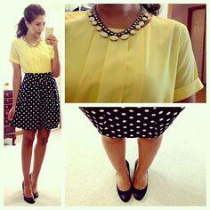 Yellow and Polka Dots!