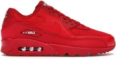 Buy and sell authentic Nike Air Max 90 Triple Red shoes and thousands of other Nike sneakers with price data and release dates. Retro Jordans 11, Nike Air Jordans, Nike Air Max, All Red Air Max, Air Max 90, Nike Basketball Shoes, Nike Shoes, Air Max Sneakers, Norte