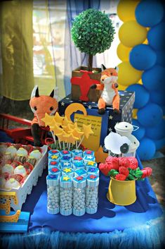 Little Prince Birthday Party decorations!  See more party planning ideas at CatchMyParty.com!