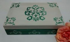 Caixa Verde Arabescos