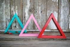 Red Triangle // decor by PerrodinSupplyCo on Etsy, $8.00