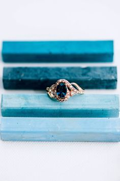 LeVian Sapphire ring 14K rose gold from Macy's | engagement ring inspiration | Diamond Trends via Rocky Mountain Bride