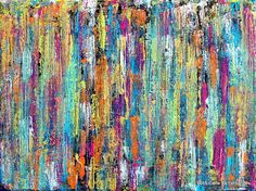 ARTFINDER: Abstract Fragments #60 by Carla Sá Fernandes - This acrylic painting is done on gallery wrapped canvas, with no need for framing, as the edges are painted. Ready to hang. *** International Buyers*** I...
