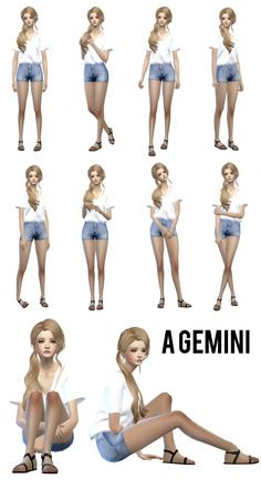 Gemini poses for CAS at Sens Felipa via Sims 4 Updates  Check more at http://sims4updates.net/poses/gemini-poses-for-cas-at-sens-felipa/