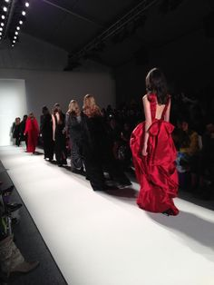 The finale @ Noon By Noor Fall 2013 fashion show #NYFW #noonbynoor #nyfw #mbfashionweek