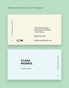 Minimal Business Card Template More