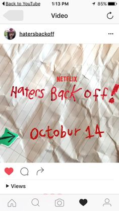 HATERS BACK OFF IN PREMIERES ON THE 14TH OF OCTOBER!!!!!!!!!!!!!!!! YAY!!!!!!!!!!!!!!!!!!!!!!!!!!!!!!!