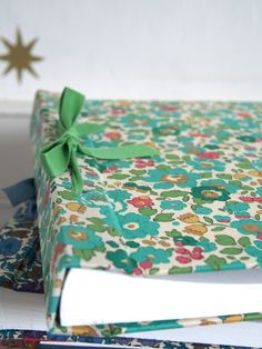 Liberty fabric covers.