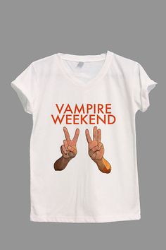Vampire Weekend Shirt VW Shirt V-neck TShirt T Shirt Tee Shirts Women Size S,M,L,XL