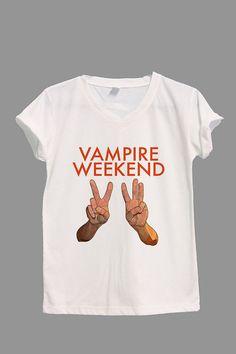 Vampire Weekend Shirt VW Shirt V-neck TShirt T Shirt Tee Shirts Women Size S,M,L,XL