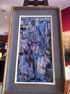 "Fabulous mid-century oil on canvas.  ""Beat Generation"" artist Pascal Cucaro."