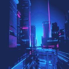 New post on neon-ambiance Cyberpunk City, Cyberpunk Aesthetic, Neon Aesthetic, Aesthetic Space, Vaporwave, Animation, Space Opera, Neon Noir, Future City