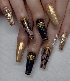 2020 Beautiful Nail Art Designs to Copy - Naija's Daily Sexy Nails, Glam Nails, Dope Nails, Fancy Nails, Bling Nails, Beauty Nails, Beauty Makeup, Stylish Nails, Trendy Nails