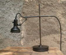 FRENCH Machine age Industrial factory desk lamp SINGER ca. 1940s