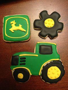 John Deere cookies but make them case tractors!