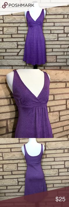 Michael Stars Dress Beautiful metallic purple. Showing no signs of wear. 12in waist, 12in armpit to armpit and 23in from waist to bottom of skirt. Michael Stars Dresses
