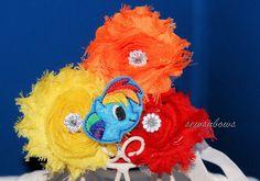 My Little Pony Headband My Little Pony Bow Rainbow by SewsnBows, $7.00