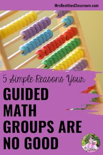 Guided Math is a fantastic teaching structure, but your groups don't work. Here are five simple reasons your Guided Math groups are no good. Classroom Management Strategies, Teaching Strategies, Classroom Resources, Math Resources, Teaching Math, Math Activities, Guided Math Groups, Primary Maths, Maths Puzzles